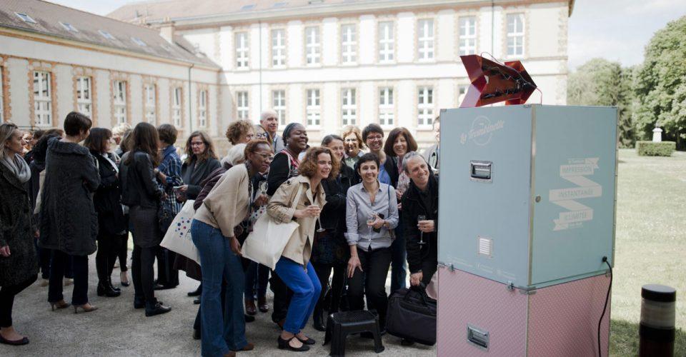 Animation événement borne selfie Caen inauguration Paris agence Formule Magique